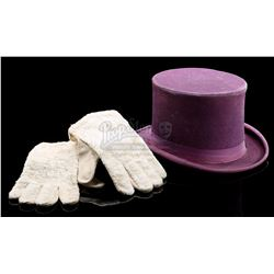 BATMAN (TV SERIES 1966-1968) - The Penguin's (Burgess Meredith) Top Hat and Gloves