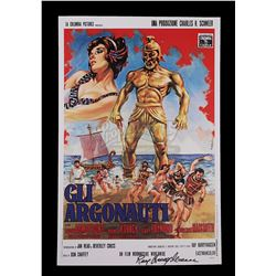 JASON AND THE ARGONAUTS (1963) - Ray Harryhausen Autographed Italian Poster