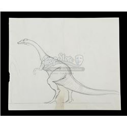 VALLEY OF GWANGI, THE (1969) - Ray Harryhausen Hand-Drawn Ornithomimus Scale Comparison