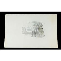 INDIANA JONES AND THE RAIDERS OF THE LOST ARK (1981) - Norman Reynolds Hand-Drawn Idol Chamber Conce