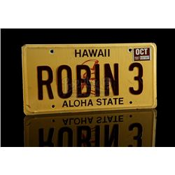 "MAGNUM, P.I. (1980-1988) - Thomas Magnum's (Tom Selleck) ""ROBIN 3"" Jeep Wagoneer License Plate"