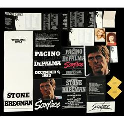 SCARFACE (1983) - Babylon Club Cocktail Napkin, Insert Posters and Screening Ephemera