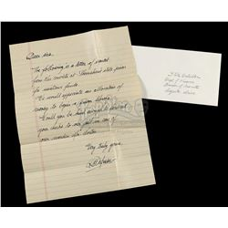 SHAWSHANK REDEMPTION, THE (1994) - Andy's (Tim Robbins) Hand-Written Funding Request Letter