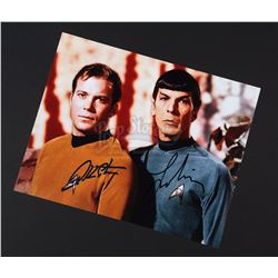 STAR TREK (TV 1966-1969) - William Shatner and Leonard Nimoy Autographed Photograph