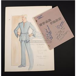 STAR TREK (TV 1966-1969) - Robert Fletcher Hand-Painted Captain Kirk Costume Design and 'The Cage' A