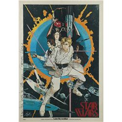 STAR WARS: A NEW HOPE (1977) - George Lucas-Autographed Howard Chaykin Poster