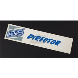 STAR WARS: THE EMPIRE STRIKES BACK (1980) - 'Director' Office Door Sign