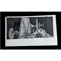 STAR WARS: THE EMPIRE STRIKES BACK (1980) - Hand-Drawn Storyboard - TIE Fighter Armada