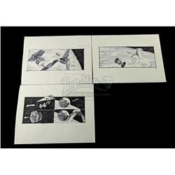 STAR WARS: RETURN OF THE JEDI (1983) - Hand-Drawn Storyboards - Imperial Shuttle Escort