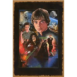 STAR WARS: RETURN OF THE JEDI (1983) - Mark Raats Hand-Painted 30th Anniversary Poster Artwork