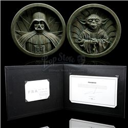 STAR WARS: THE COMPLETE SAGA - George Lucas-Signed Star Wars: Frames Tipped-In Page and Prototype Me
