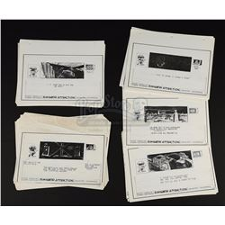 STAR WARS: STAR TOURS (1986) - Complete Set of Wesley Seeds Printed Simulator Attraction Storyboards