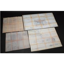 SUPERMAN II (1980) - Set of Four Building Construction Blueprints