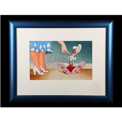 WHO FRAMED ROGER RABBIT (1988) - Hand-Painted Roger Rabbit 'Somethin's Cookin'' Animation Cel