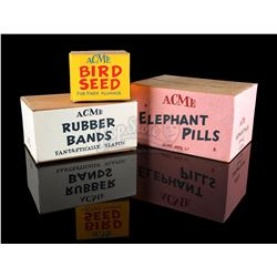 WHO FRAMED ROGER RABBIT (1988) - Acme Elephant Pills, Rubber Bands and Bird Seed Boxes