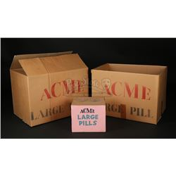 WHO FRAMED ROGER RABBIT (1988) - Acme Large Pill Box and Packing Boxes