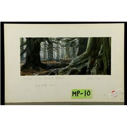 WILLOW (1988) - Matte Painting Study - Willow in the Forest