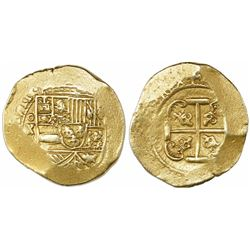 Mexico City, Mexico, cob 8 escudos, 1711(J),  ears  style cross (1711-2), from the 1715 Fleet.