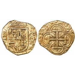 Cartagena, Colombia, cob 2 escudos, 1627, assayer E below mintmark RN to right, rare, ex-Caballero,