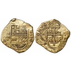 Cartagena, Colombia, cob 2 escudos, 1633, assayer E below mintmark C to right, unlisted variety.