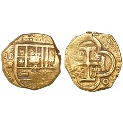 Seville, Spain, cob 4 escudos, Philip IV, assayer R.