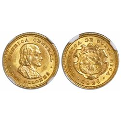 Costa Rica, 2 colones, 1926, encapsulated NGC MS 63, ex-Richard Stuart (designated on label).