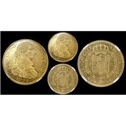 Mexico City, Mexico, bust 8 escudos, Charles III, 1778FF, encapsulated NGC MS 61, finest known in NG