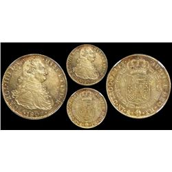 Mexico City, Mexico, bust 8 escudos, Charles IV, 1807/6TH, encapsulated NGC MS 62, finest known in N