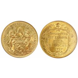 Bern, Switzerland, 2 ducat, 1727, encapsulated NGC MS 61.