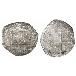 Mexico City, Mexico, cob 4 reales, Philip III, assayer D, Grade-3 quality (10 points), with hand-sig