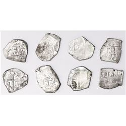 Lot of four Mexico City, Mexico, cob 4 reales, Philip V, assayer not visible (J).