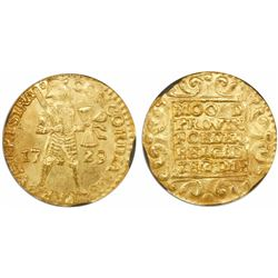 Utrecht, United Netherlands, gold ducat, 1729, encapsulated NGC MS 63.