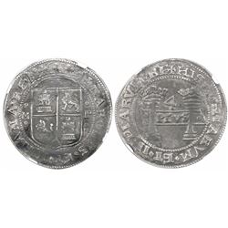 """Mexico City, Mexico, 4 reales, Charles-Joanna, """"Early Series,"""" assayer P to right, mintmark M to lef"""