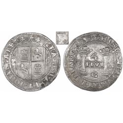 "Mexico City, Mexico, 4 reales, Charles-Joanna, ""Early Series,"" assayer G at bottom between pillars,"