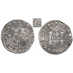"""Mexico City, Mexico, 2 reales, Charles-Joanna, """"Early Series,"""" assayer F/P to right, mintmark M to l"""