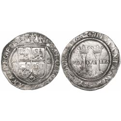"""Mexico City, Mexico, 4 reales, Charles-Joanna, """"Late Series,"""" assayer L/A to right, mintmark M to le"""