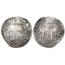 """Mexico City, Mexico, 4 reales, Charles-Joanna, """"Late Series,"""" assayer O/L to right, mintmark oM to l"""