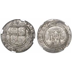 """Mexico City, Mexico, 1 real, Charles-Joanna, """"Late Series,"""" assayer A to right, mintmark oM to left"""