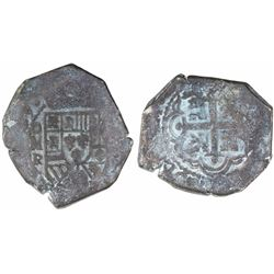 """Mexico City, Mexico, cob 8 reales, (17)29R, ex-""""Horn of Africa"""" hoard."""