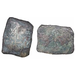 """Mexico City, Mexico, cob 8 reales, 1732F, ex-""""Horn of Africa"""" hoard."""