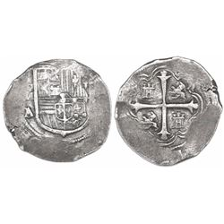 Mexico City, Mexico, cob 2 reales, Philip III, assayer A/F.