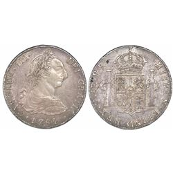 Potosi, Bolivia, bust 8 reales, Charles III, 1784PR.