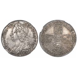 Great Britain (London, England), sixpence, George II, 1746, with LIMA below bust, encapsulated NGC A