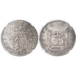 Guatemala, pillar 4 reales, Charles III, 1769P, encapsulated NGC VF 20, finest known in NGC census,