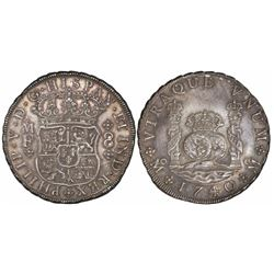 Mexico City, Mexico, pillar 8 reales, Philip V, 174/30MF.