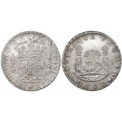 Mexico City, Mexico, pillar 8 reales, Ferdinand VI, 1752MF.