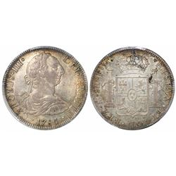 Mexico City, Mexico, bust 8 reales, Charles III, 1784FM, encapsulated PCGS AU58.