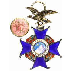 Bolivia, military badge, Order of the Condor of the Andes, 1925.