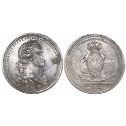 Mexico City, Mexico, large silver proclamation medal, Charles IV, 1789.