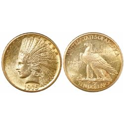 USA (Philadelphia mint), $10 Indian head eagle, 1915.
